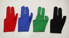 New 4Pcs Billiards Pool Snooker Cue Shooters 3 Fingers Gloves Free Shipping