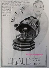 PUBLICITE 1927 PARFUM RIGAUD VERS LA JOIE salon parfumerie ORIGINAL AD PERFUME