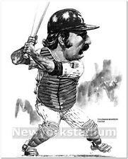 New York Yankees- Thurman Munson caricature