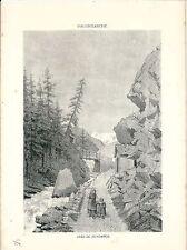 1880 VALGRISENCHE Costumi tipici Valle d'Aosta Alpinismo Montagna Gran Paradiso