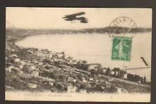 GOLFE-JUAN (06) AVION BI-PLAN au-dessus des VILLAS 1910