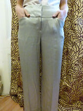 Emporio Armani metallic beige wide-leg trousers IT size 38 UK size 6-8
