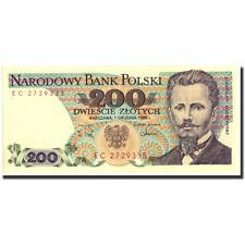 [#570900] Banknot, Polska, 200 Zlotych, 1988, 1988-12-01, KM:144c, UNC(60-62)