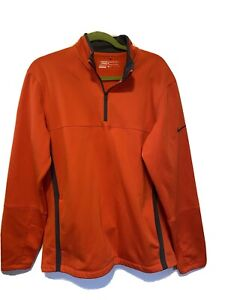 Nike Golf Therma Fit Men's Orange Pullover Quarter Zip Pull-Over Size M