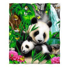 Dawhud Direct Precious Pandas Super Soft Plush Fleece Throw Blanket
