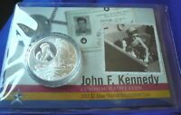 2017 John F. Kennedy JFK Solomon Islands 1 oz 999 Silver Frosted UNC Round Coin