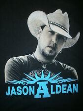 JASON ALDEAN CONCERT T SHIRT Night Train Tour Cities 2013 2-Sided Jake Owen