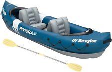Sevylor Riviera 2 Person Inflatable Canoe Kayak