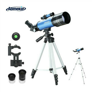 400x70 Astronomical Telescope with Adjustable High Tripod Phone Adapter