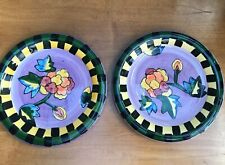 2 hand painted Milson and Louis plates perfect condition . Rare .