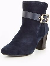 Wallis Amulet Buckle Heeld Ankle Boot- Navy UK 6 EU 39 JS50 55