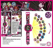 Cartoon Monster High 3D Projection 20 images Wrist Watch Kids Xmas Gift Toy New