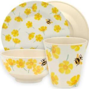 Emma Bridgewater - Buttercups & Bees Bamboo Melamine - Plates, Bowls or Beakers