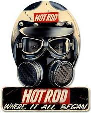 Hot Rod Magazine Drag Racing Helmet Metal Sign Man Cave Garage Shop Barn HRM082