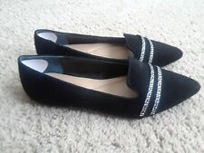Alfani  Women's Size 8.5M Black Slip On Loafers Flat Shoes.