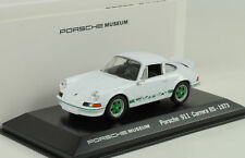 1973 Porsche 911 CARRERA RS 2.7 BLANCO VERDE RAYAS / Blanco 1:43 Welly MUSEO