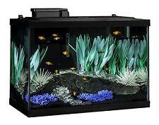 Aquarium 20 Gallon Fish Tank Kit Filter Plants Heater Color Change LED Light New