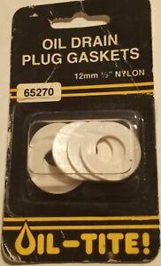 """Dorman 65270 12mm 1/2"""" Nylon Oil Drain Plug Gasket(s) - Pack of 5"""