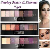 Smokey Shimmer & Matte Eveline Professional Eyeshadow Pallette Brand New