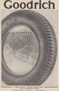Z5074 Tires Goodrich - Advertising D'Epoca - 1930 Vintage Advertising