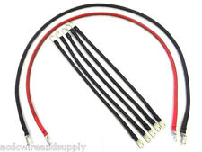 4 Awg HD Golf Cart Battery Cable 7 pc Set  Club Car DS IQ Set U.S.A MADE