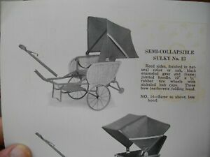 1922 THAYER BABY CARRIAGE CATALOG + Price List RARE Child Toys Wagons Bicycles
