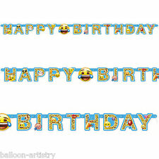 1.82m Official Emoji Smiley Face Happy Birthday Party Letter Banner Decoration