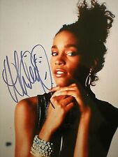 HAND SIGNED PHOTO YOUNG & STUNNING THE LATE ICONIC DIVA WHITNEY HOUSTON-CERT-GA