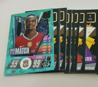 2020/21 Match Attax UEFA - Lot of 20 cards inc Man of the Match Sadio Mane
