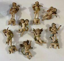 8 Vintage Depose Italy Musical Cherubs Angels/Ornaments Lot (Spider Mark)