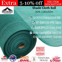 Instahut 1.83x50m Shade Cloth Shadecloth Garden Sail Mesh Roll Outdoor 30%UV New