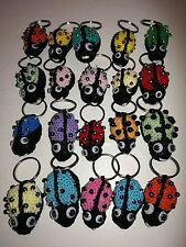 Crochet coccinelle multicolore lavorate interamente all'uncinetto- bomboniere