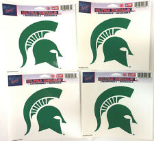 "Lot of 4 Officially Licensed 5 1/2"" x 4 1/4"" Ultra Decals MICHIGAN STATE Spartan"