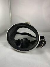 Vintage 1960's Marin France Scuba Snorkel Goggles Mask LG