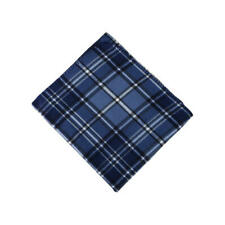 Cannon Blue Plaid Fleece Throw Blanket  50x60in