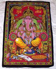 Wandbehang Wandbild Stoffbild Ganesha Götter Elefantengott Hindu Ohm Indien XXL
