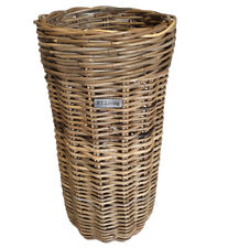 Rattan Wicker Umbrella Basket Slim Line Canes Walking Sticks Grey Shop Hotel