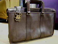 . Coach brown Leather Vintage Portfolio BRIEFCASE WITH STRAP