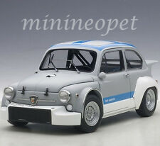 AUTOart 72642 FIAT ABARTH 1000 TCR 1/18 DIECAST MATTE GREY with BLUE STRIPES