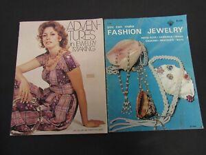 Adventures in Jewelry Making (Liz Grisham) & You Can Make Fashion Jewelry ~ 1971
