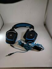 Logitech A-00060 G430 Surround Gaming Gamer Headset Black Blue For PARTS/REPAIR