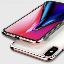New For iPhone XR XS Max 8 7 6S Plus 2018 Plating Thin Soft Rubber Case Cover
