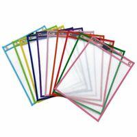 10Pcs Reusable Dry Erase Pockets, Assorted Colors For Children Kids Student P4T6