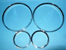 chrome Tacho anneaux qui va avec BMW E30 Chrome BMW Série 3 PRODUIT NEUF