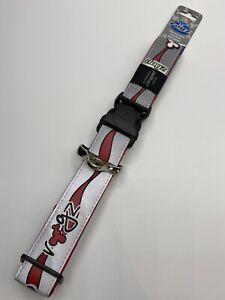 Rogz XXL Reflective Dog Collar BNWT Red Wave Winter Ready