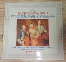 LP Karl giudice Triple concerti Bach Monaco Bach Orchestra, è VG +, archivio PROD.