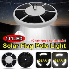 Solar Powered 111 LED Flag Pole Light Night Super Bright Flagpole Waterproof 5AA
