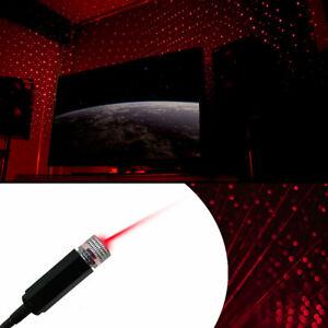 Car Atmosphere Light Interior USB LED Laser Remote Star Sky Light Projector