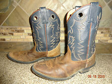 Youth/Child/Kids Boys/Girls - HH - Double H - Sz 2.5 D Leather Cowboy Boots