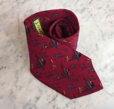 Jerry Garcia Blue Hummingbirds on Red Silk USA-Made Mens Neck Tie by Stonehenge